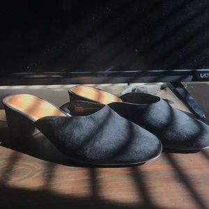 WORN ONCE heeled mules